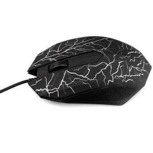 Special Shaped 3 Buttons USB Wired Luminous Gamer Computer Gaming Mouse