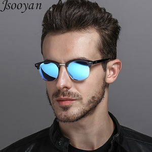 Polarized Men Sunglass Classic Retro Round Shades