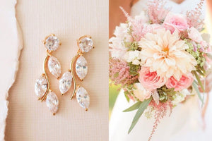 Bridal Earrings for Garden / Outdoor Weddings
