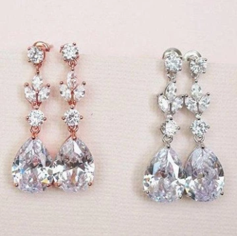 bridal earrings drop, 2019 August weddings