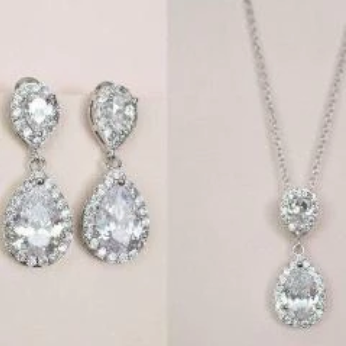crystal drop wedding earrings