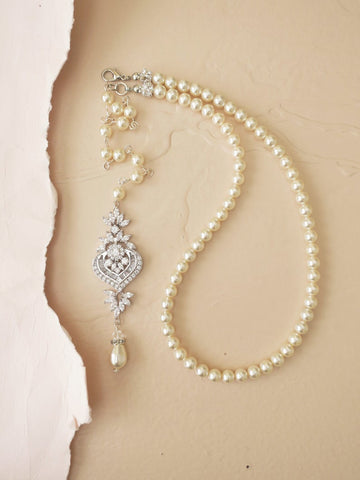 bridal necklace, wedding jewelry for brides