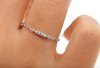Sterling SIlver CZ Charm Bar Thin Ring