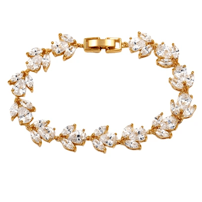 CZ Bridal Bracelet of Marquise and Drop