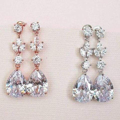 Bridal crystal drop earrings