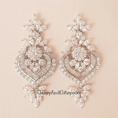 Crystal Bridal Earrings Mia