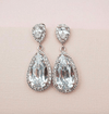 Cubic Zirconia Drop Earrings in Old Hollywood Style for The Bride Earrings JazzyAndGlitzy DD205 90444549