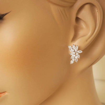 Cluster Marquise CZ Earrings Earrings JazzyAndGlitzy