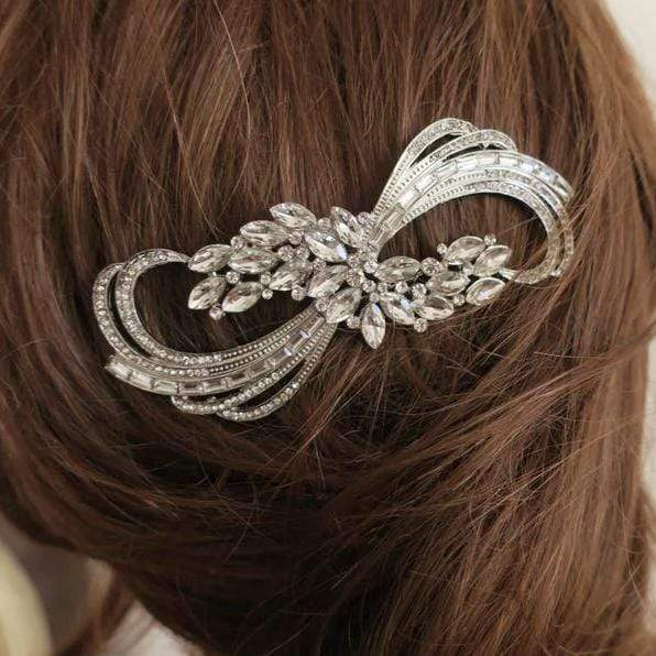 Bridal Hair Comb in Vintage Art Deco Style Rhinestone Hair Accessories JazzyAndGlitzy