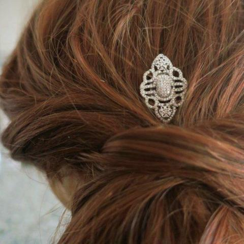 Bridal Hair Pins Crystal in Art Deco Style Hair Accessories JazzyAndGlitzy