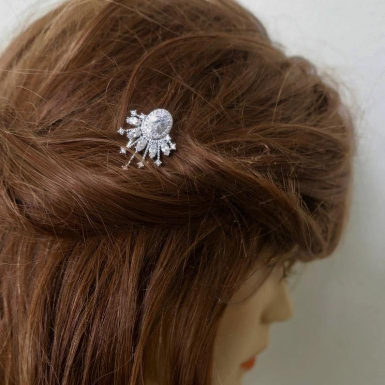 Crystal Fan Shape Wedding Hair Pin Parla