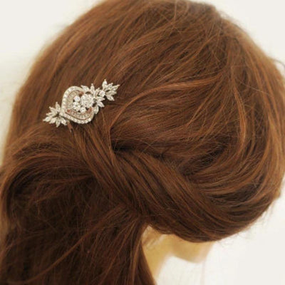 Rose Gold Wedding Hair Comb Cubic Zirconia | Jazzy And Glitzy Hair Accessories JazzyAndGlitzy