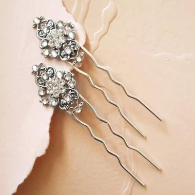 Swarovski Crystal Bridal Hair Pins Art Deco Hair Accessories JazzyAndGlitzy JG-SS-HP103 77782956