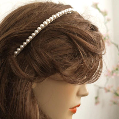 Tia Pearl Headband Hair Accessories White Ivory / 6mm JazzyAndGlitzy