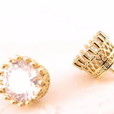 Gold Bridal Stud Earrings