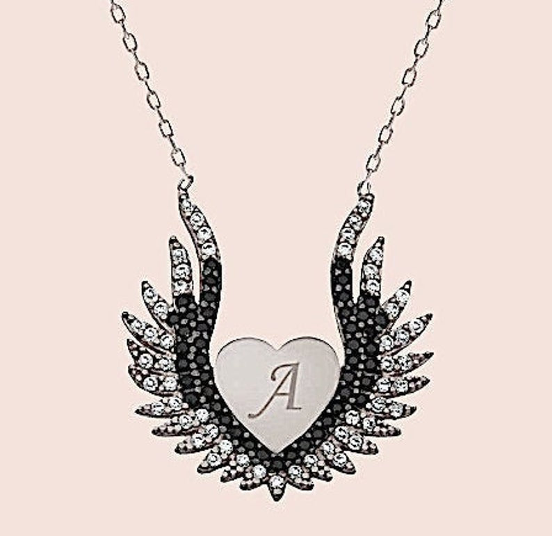 Engravable Angel Wing Necklace