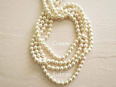 Backdrop Bridal Necklace Necklace Cream Pearls JazzyAndGlitzy