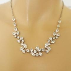 Romantic CZ Leaf Necklace