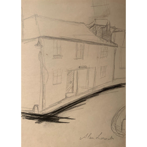 Alan Lowndes Pencil Drawing Alfred Wallis House