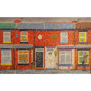 Jerry Gordon - Another Rainy day in Rusholme - De Lacey Fine Art