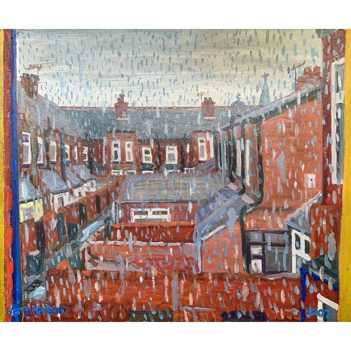 Jerry Gordon - A Rainy Day in Rusholme - De Lacey Fine Art