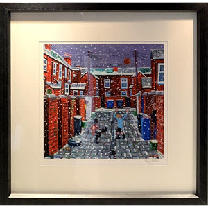 Jerry Gordon - Back Alley Goal - FRAMED Ltd Edition - De Lacey Fine Art