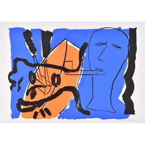 Bruce McLean - The Pipe Smoker with Female Head - De Lacey Fine Art Ltd