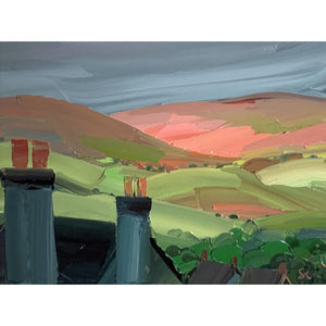 Sarah Carvell - Denbigh Chimneys - De Lacey Fine Art