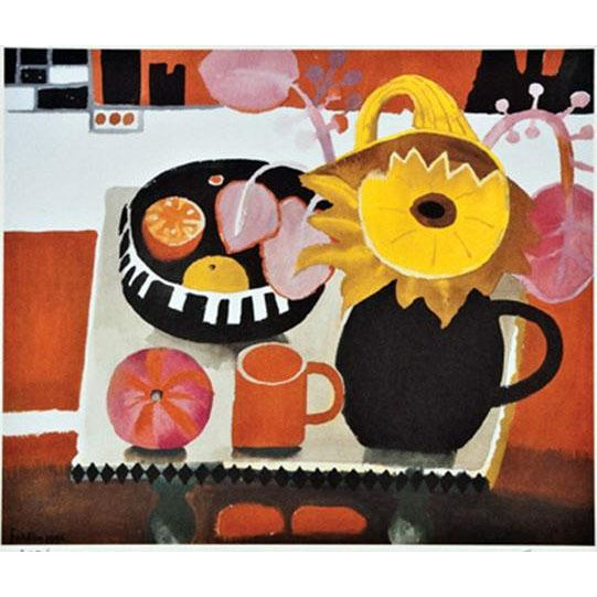 Mary Fedden - Limited Edition Print - The Orange Mug - De Lacey Fine Art