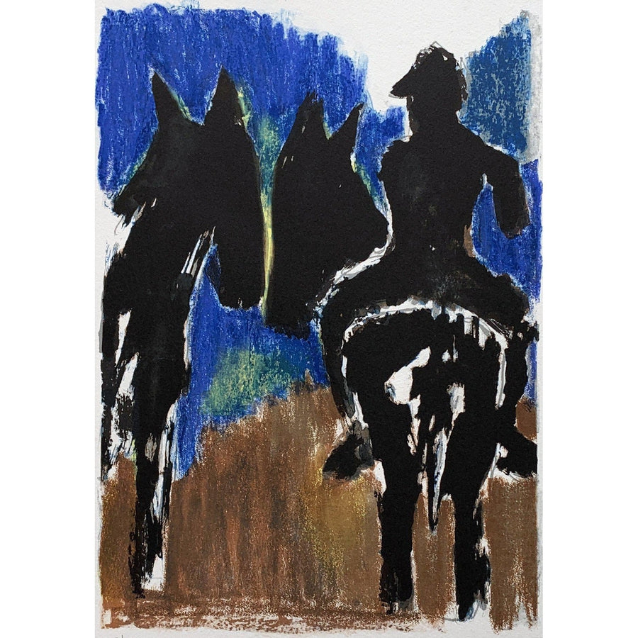 Josef Herman Signed Ltd Ed Print - Horse Riders