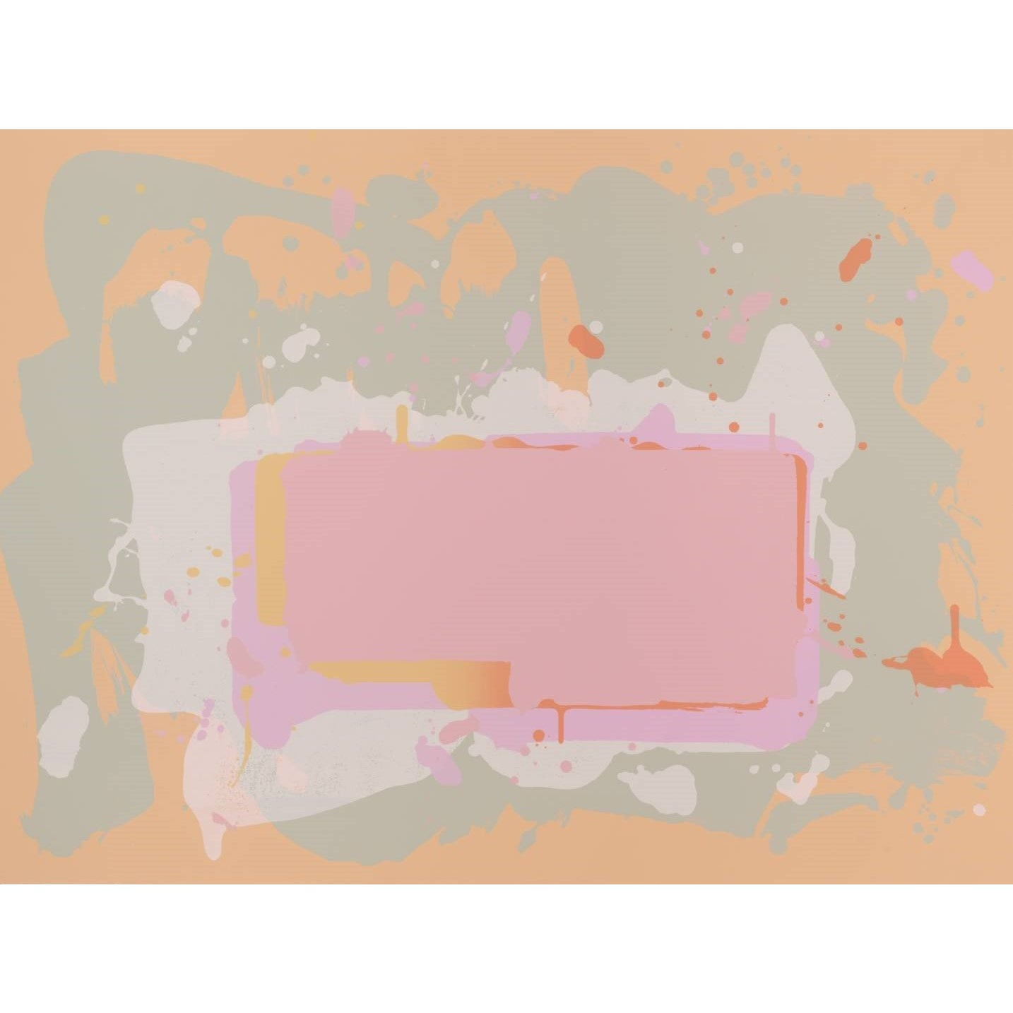 John Hoyland Yellow and Pink