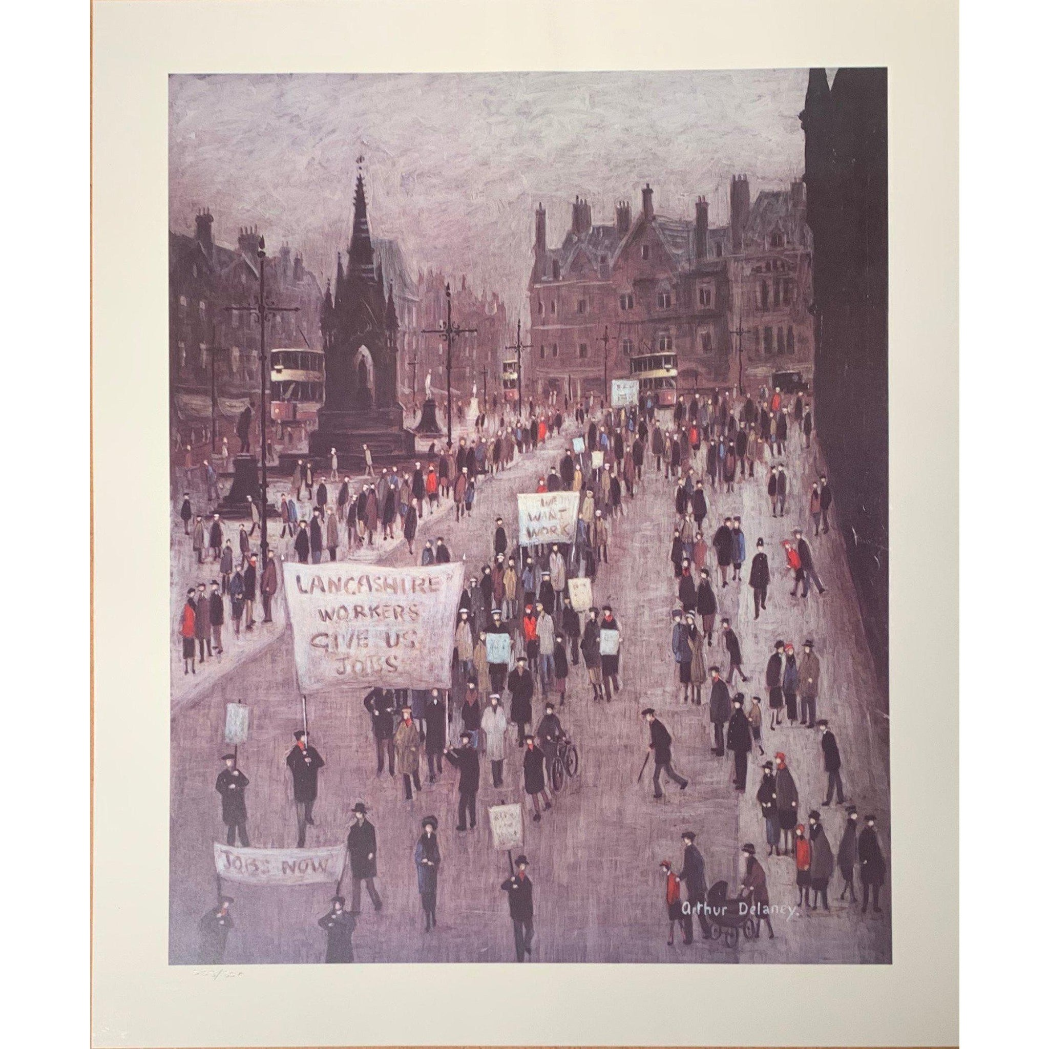 Arthur Delaney Ltd Ed Print - 'The Protest'