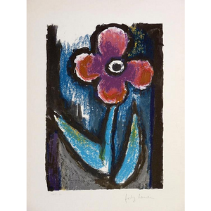 Josef Herman Signed Ltd Ed Print - Lyrical Flower - De Lacey Fine Art