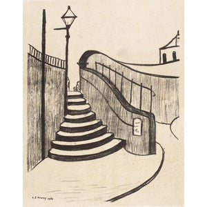 L.S. Lowry - The Old Steps Stockport - De Lacey Fine Art