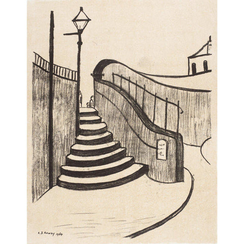 L.S. Lowry - The Old Steps Stockport