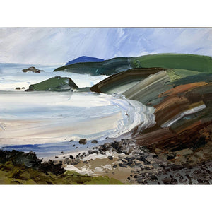 Sarah Carvell - Porth Ysgo Evening - De Lacey Fine Art