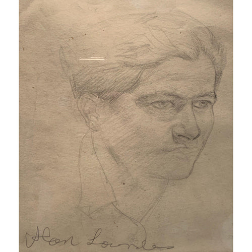 Alan Lowndes - Self portrait - Pencil Drawing - De Lacey Fine Art