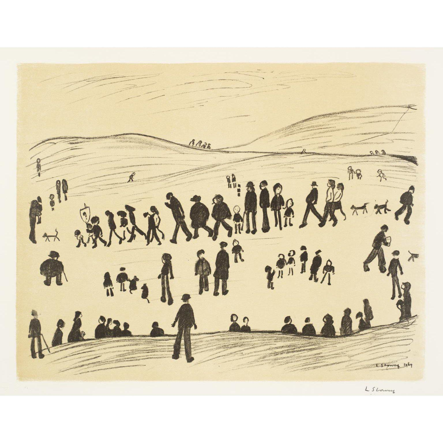 L.S. Lowry - Sunday Afternoon
