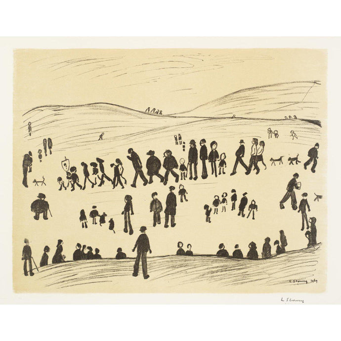 L.S. Lowry - Sunday Afternoon - De Lacey Fine Art