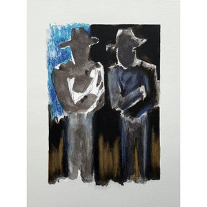 Josef Herman Signed Ltd Ed Print - Conversation - De Lacey Fine Art