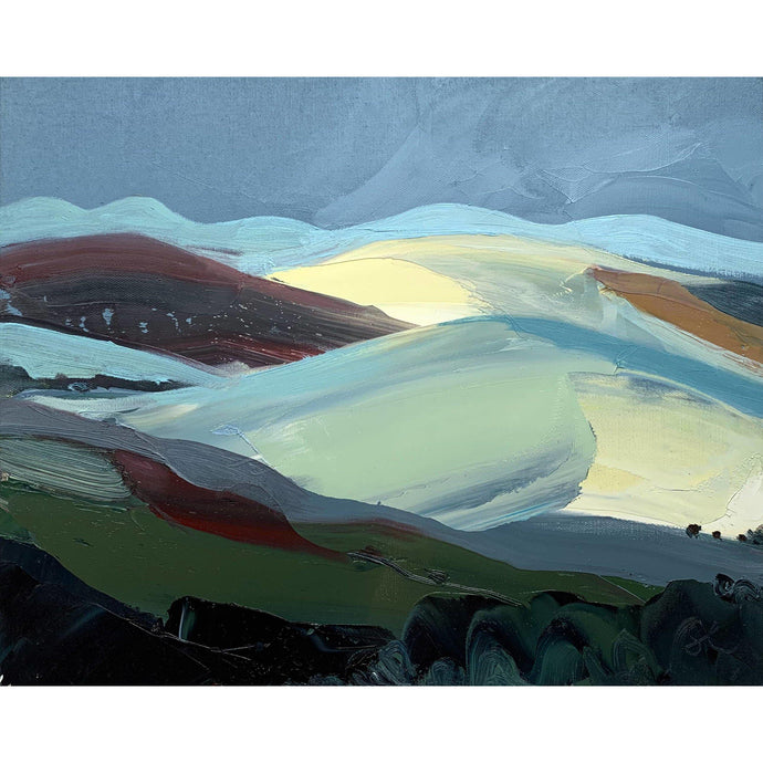 Sarah Carvell - Winter Undulating Landscape - De Lacey Fine Art