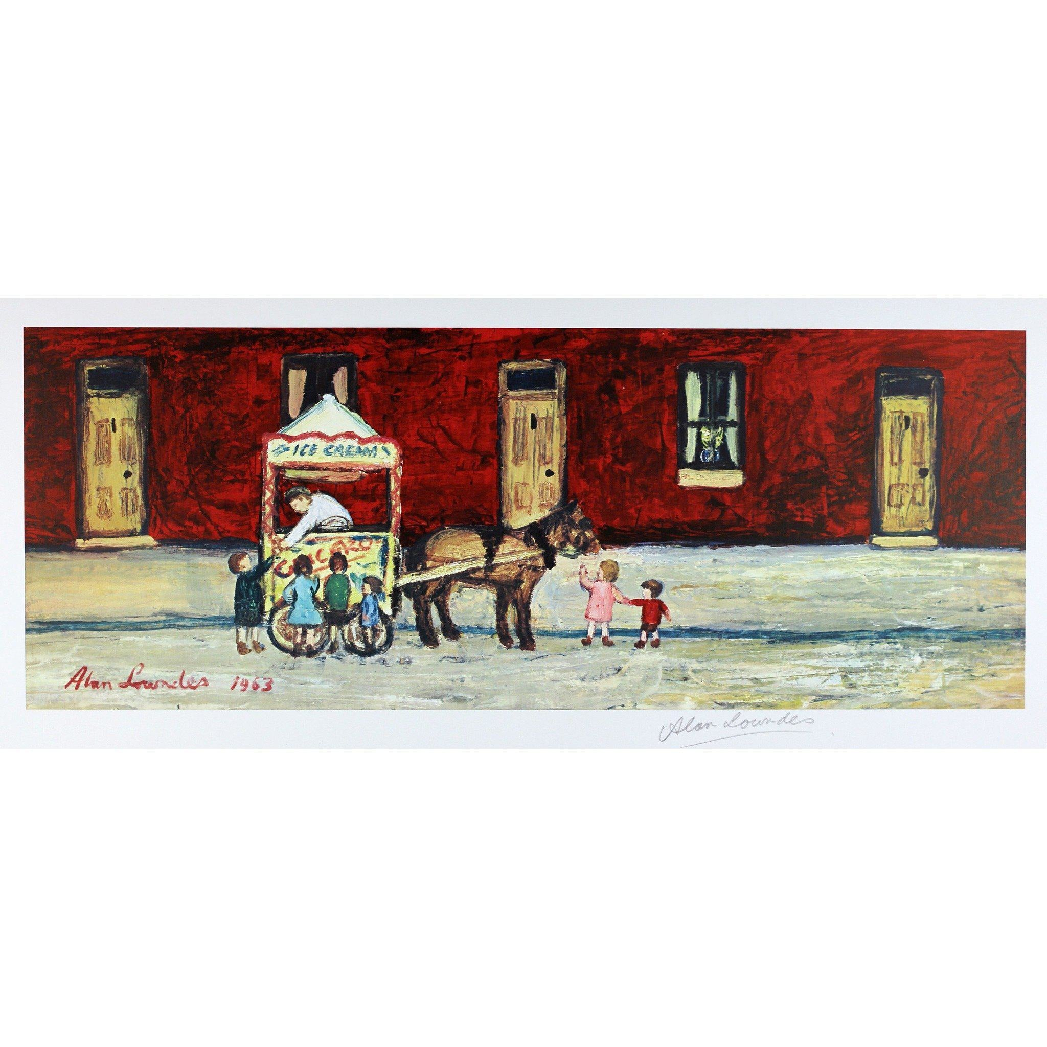 Alan Lowndes Print The Ice Cream Cart