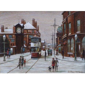 Arthur Delaney Signed Ltd Ed Print Northern Art- 'Altrincham' - De Lacey Fine Art