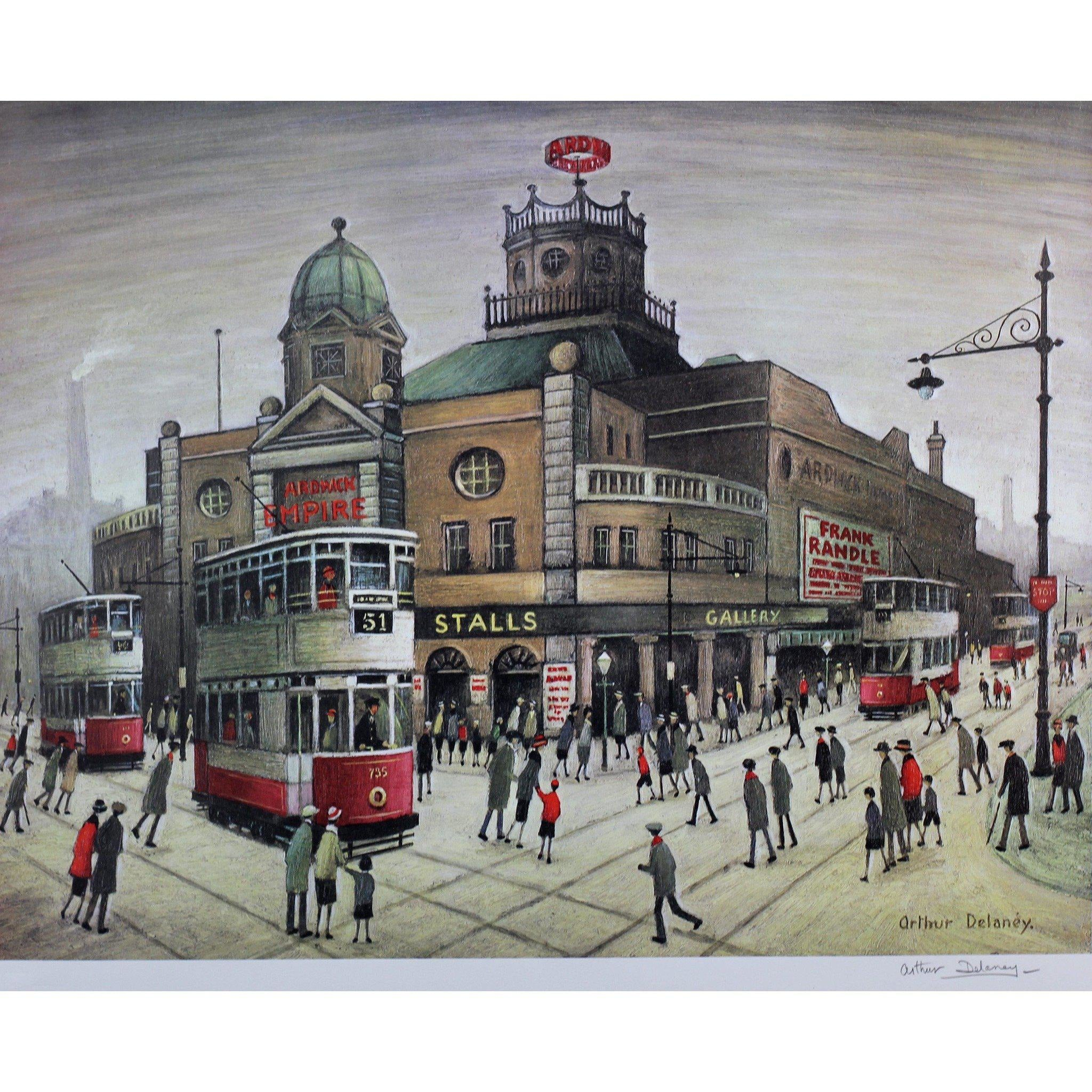 Arthur Delaney Signed Ltd Ed Print Northern Art- 'Music Hall'