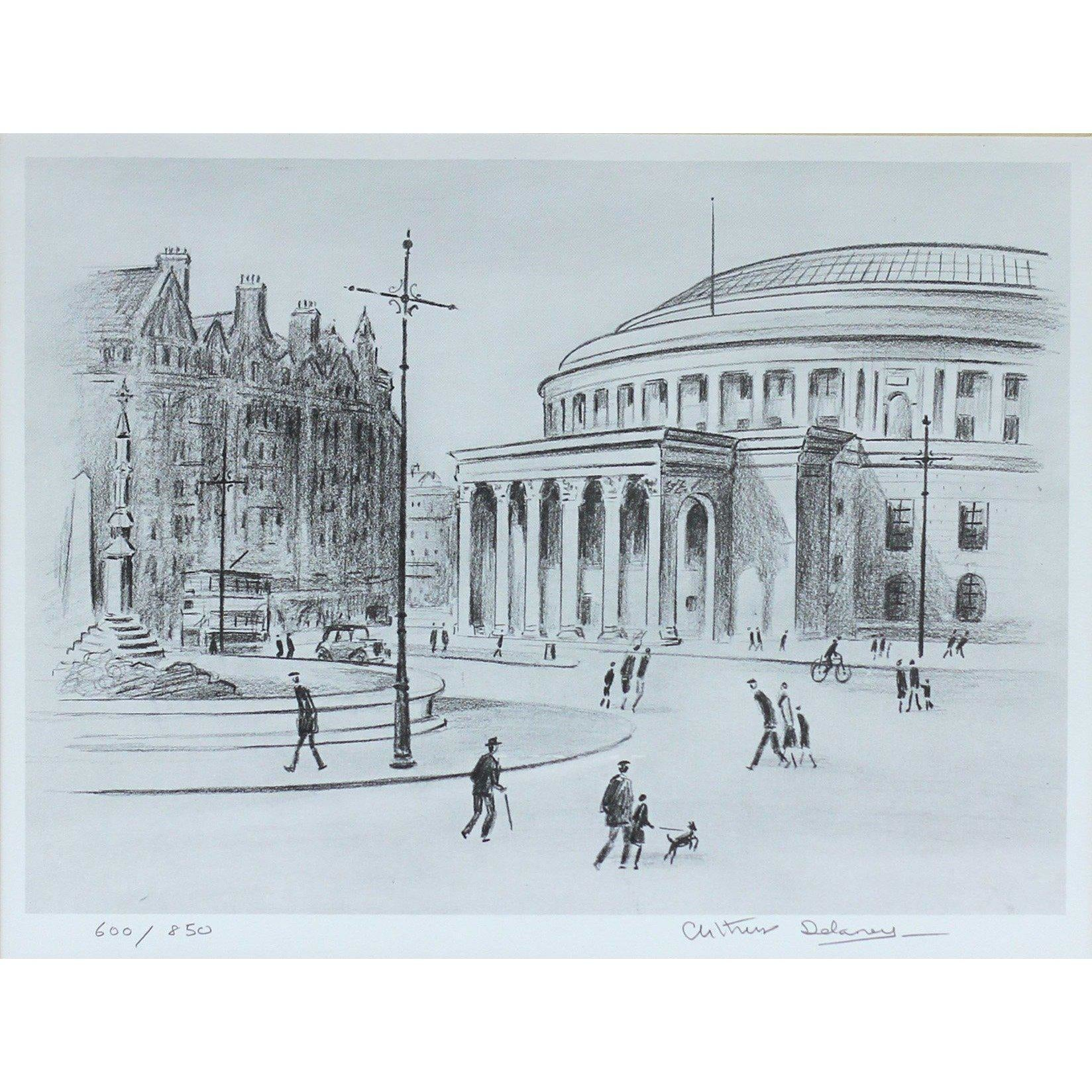 Arthur Delaney Signed Ltd Ed Print Northern Art- St Peter Sq
