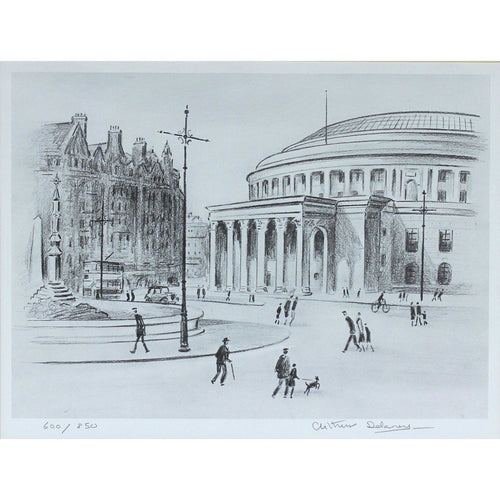 Arthur Delaney Signed Ltd Ed Print Northern Art- St Peter Sq - De Lacey Fine Art