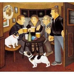 Beryl Cook Signed Ltd Ed Lithograph Print- 'In the Snug' - De Lacey Fine Art