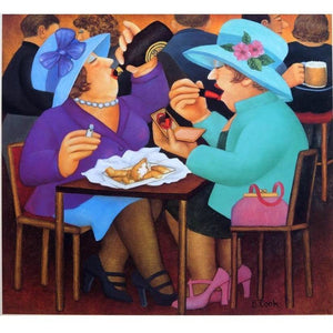 Beryl Cook Signed Ltd Ed Lithograph Print - 'Ladies Who Lunch' - De Lacey Fine Art