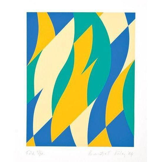 Bridget Riley Fold - De Lacey Fine Art