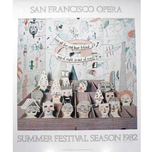 David Hockney San Francisco Opera House Poster - De Lacey Fine Art